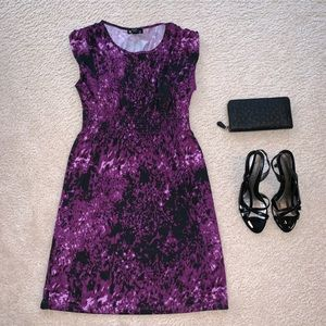 Kenzie Pretty Purple Printed Dress - Size Medium